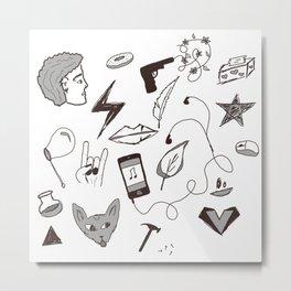 Punk Doodles with Bex Metal Print