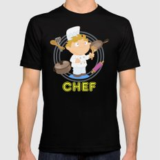 Chef MEDIUM Mens Fitted Tee Black