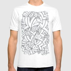 And Another Flock White MEDIUM Mens Fitted Tee