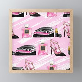 Perfume & Shoes Framed Mini Art Print