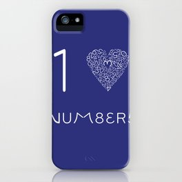 I heart Numbers iPhone Case