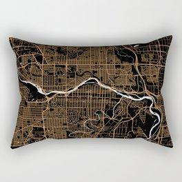 Calgary | Alberta | Canada - Minimalist City Map Rectangular Pillow
