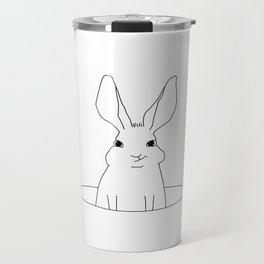 rabbit in a hole Travel Mug