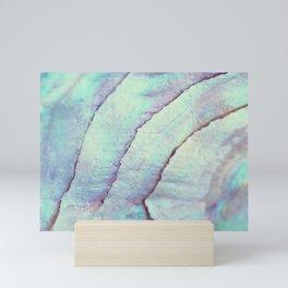 IRIDISCENT SEASHELL MINT by Monika Strigel Mini Art Print