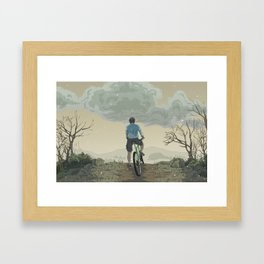 The Descent Framed Art Print