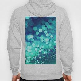 Aqua Blue Glitter Wave Hoody
