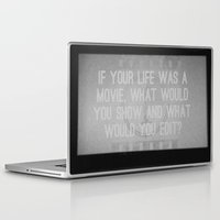movie posters Laptop & iPad Skins featuring Movie by Madison Daniels