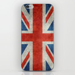 British flag of the UK, retro style iPhone Skin