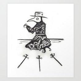 Plague, Three of Swords Art Print