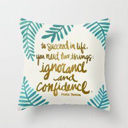 Ignorance & Confidence #1 Throw Pillow