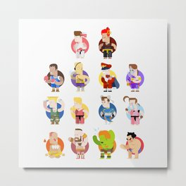 Street fighter characters Metal Print