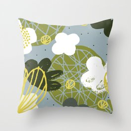 Kokedama Garden by Friztin Throw Pillow