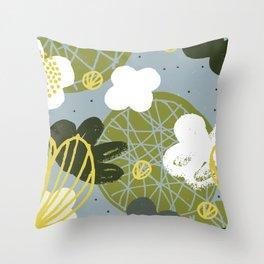 Kokedama Garden by Friztin Throw Pillow