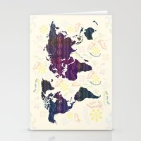 map Stationery Cards featuring Map by famenxt