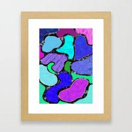 Funky Lagoons Framed Art Print