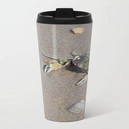 Beach Crab Metal Travel Mug