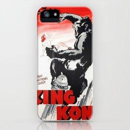 Vintage 1933 Version of RKO's King Kong Movie Cinema Poster Wall Art iPhone Case