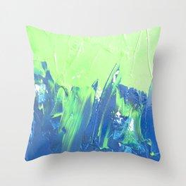 Blue & Green, No. 2 Throw Pillow