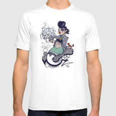 Chola Mermaid MEDIUM White Mens Fitted Tee