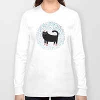 santa Long Sleeve T-shirts featuring Santa Paws by littleclyde