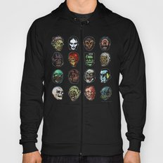 Horror Movie Monsters Masks (color) Hoody
