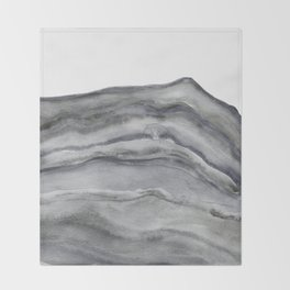 Watercolor Agate in Gray Throw Blanket