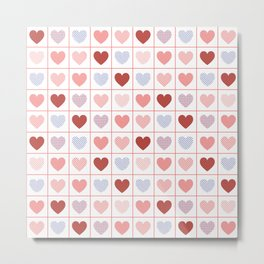 Hearts, hearts, hearts Metal Print