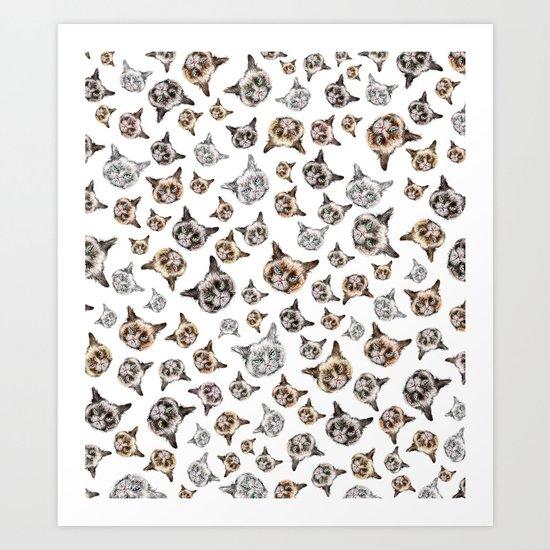 Cat Power on White Art Print