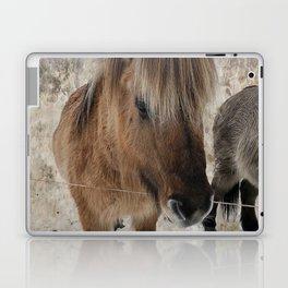 snowy Icelandic horse Laptop & iPad Skin