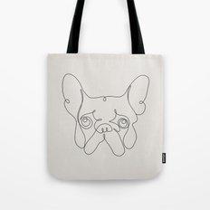 One Line French bulldog Tote Bag