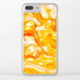 Marbled VIII Clear iPhone Case