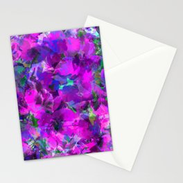 Purple Jungle Poppies Stationery Cards