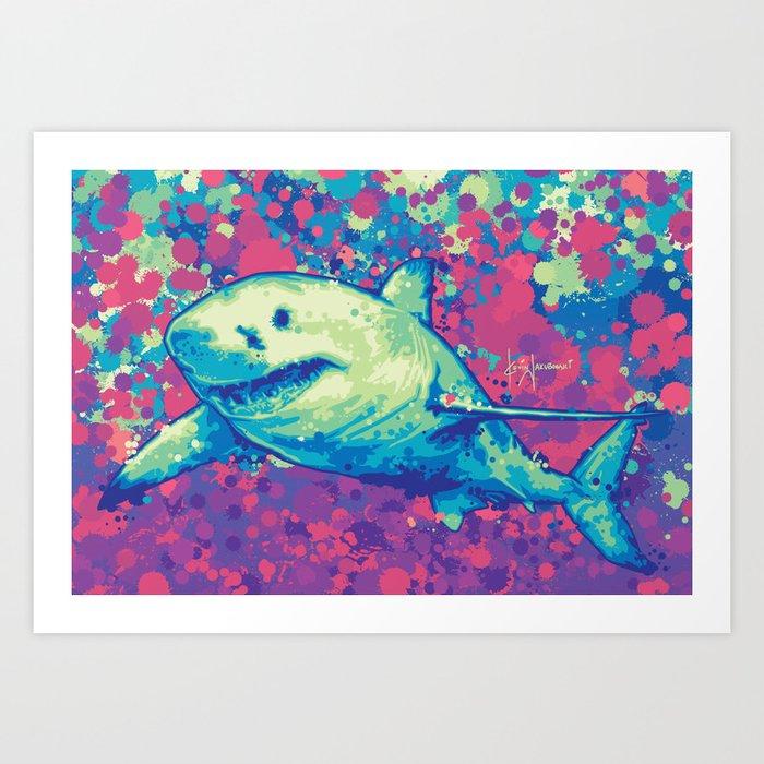 Great White Shark Kunstdrucke