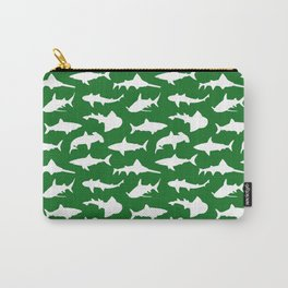 Sharks on Jewel Green Carry-All Pouch