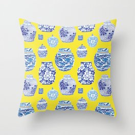 Chinoiserie Ginger Jar Collection No.2 Throw Pillow