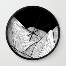 As The Mountains Rise Up Wall Clock