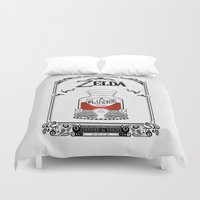 majora Duvet Covers featuring Zelda legend - Red potion  by Art & Be