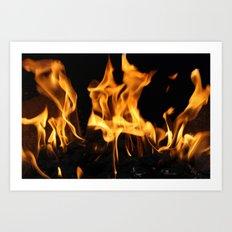 Fires of Hell Art Print