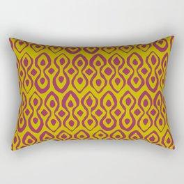 brocade dark pink chartreuse Rectangular Pillow