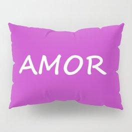 Amor, Spanish Love Pillow Sham