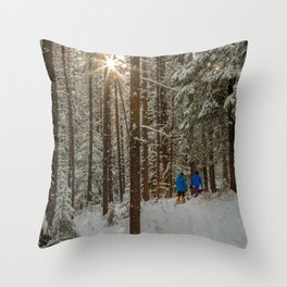 sun peak Throw Pillow