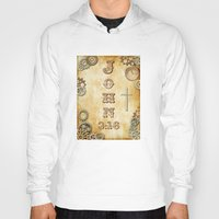 bible verses Hoodies featuring Steampunk Bible Verse John 3:16 by Whimsy and Nonsense