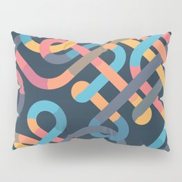 Tangled Looping Multi-Colored Ribbons Pillow Sham
