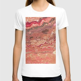 paint stains bubbles blending liquid abstraction T-shirt