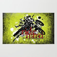 ride hard - BMX Rug