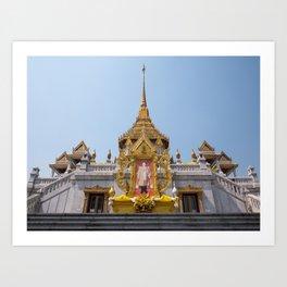 Golden Buddha Temple, Wat Trai Mit, Bangkok, Thailand Art Print
