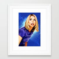 bad wolf Framed Art Prints featuring Bad Wolf by Regenerated Arts