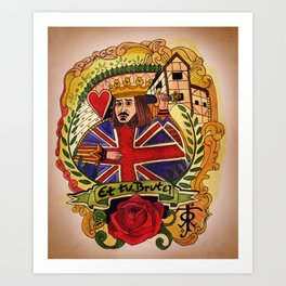 All Things British  Art Print