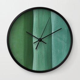Green Gradient on Wood Wall Clock