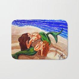 Mermaids Spent Lovers Beach Ocean Shells Sea Sand Waves Nude Women Red Head Passion Couple Bath Mat